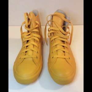 CONVERSE Yellow Hi-Top Rubber NEW in box